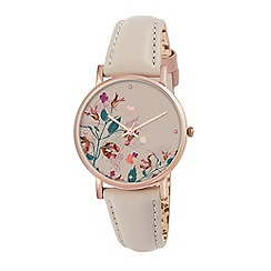 Radley - Ladies watch with rose gold plated case and gypsum genuine leather strap