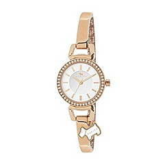 Radley - Ladies watch with stone-set rose gold plated case and rose gold plated half bangle
