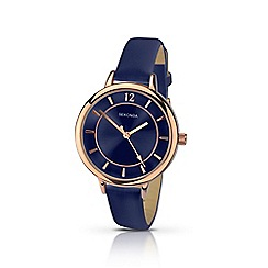 Sekonda - Ladies navy dial rose gold watch