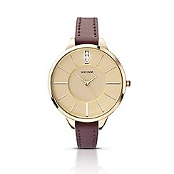 Sekonda - Ladies burgundy strap watch