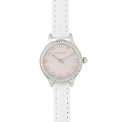 Ted Baker - Ladies white pink dial watch