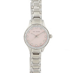 Ted Baker - Ladies pink crystal bezel analogue watch