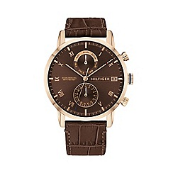 Ted Baker - Mens brown dial and brown leather strap