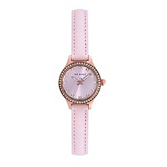 Ted Baker - Ladies pink dial and pink leather strap
