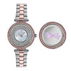 Ted Baker - Ladies silver dial and 2 tone stainless steel bracelet