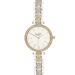 Principles by Ben de Lisi - Ladies silver plated crystal analogue watch