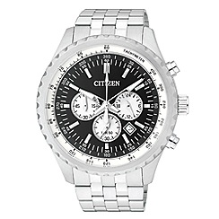 Citizen - Men's silver stainless steel chronograph watch