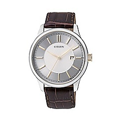 Citizen - Men's silver strap watch bi1054-04a
