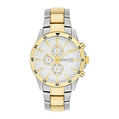 Citizen - Men's stainless steel chronograph watch
