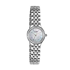 Citizen - Ladies silver stainless steel crystal watch