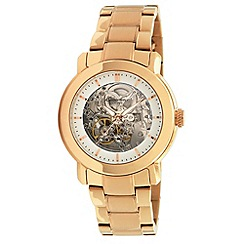 Kenneth Cole - Ladies silver dial and gold colour stainless steel bracelet