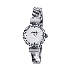 Kenneth Cole - Ladies silver dial and silver mesh bracelet