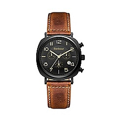 Barbour - Men's black dial chronograph bracelet watch
