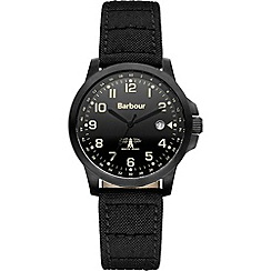 Barbour - Men's black dial QA strap watch
