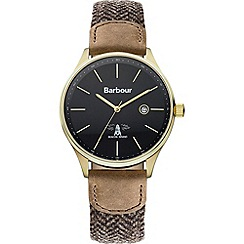 Barbour - Men's charcoal dial QA strap watch