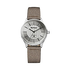Barbour - Men's silver dial QA strap watch