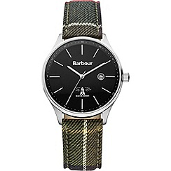 Barbour - Men's black dial QA strap watch