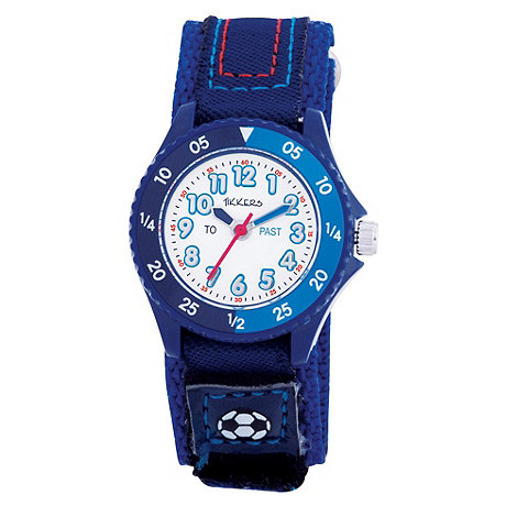 Tikkers - Kids+ blue rip tape strap watch