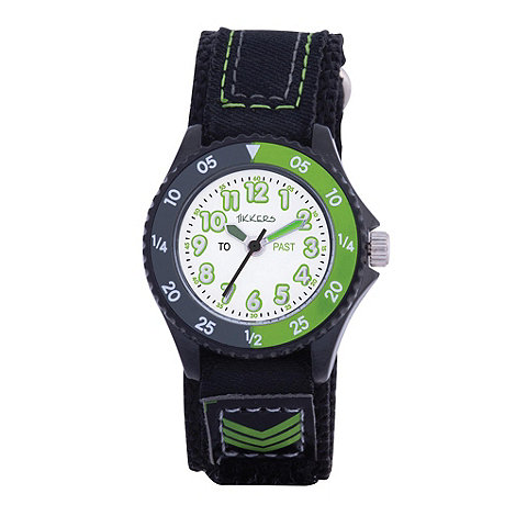 Tikkers - Kids+ black rip tape strap watch