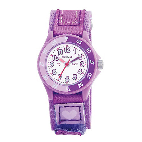 Tikkers - Kids+ purple rip tape strap watch