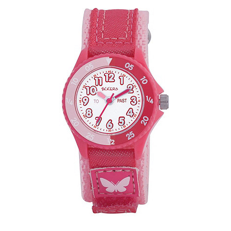 Tikkers - Kids+ pale pink rip tape strap watch