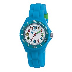 Tikkers - Kids' blue round dial segmented strap sports watch tk0012