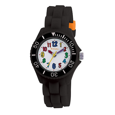 Tikkers - Kids+ black round dial segmented strap sports watch tk0016
