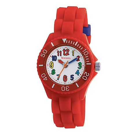 Tikkers - Kids+ red round dial segmented strap sports watch