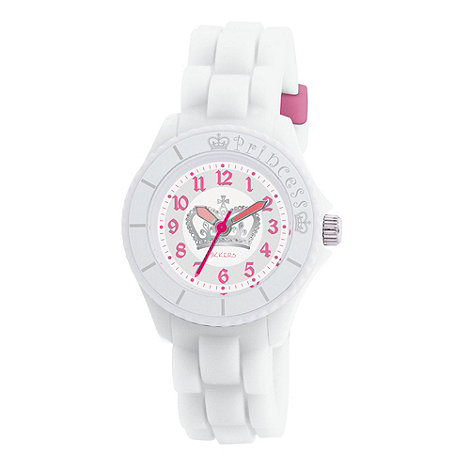 Tikkers - Kids+ white crown detail sports watch