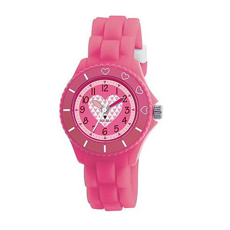 Tikkers - Kids' pink heart detail sports watch