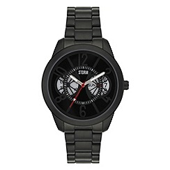 STORM - Mens black multi layer dial bracelet watch