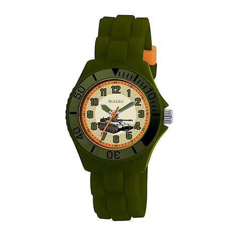 Tikkers - Kids+ green round dial tank sports watch