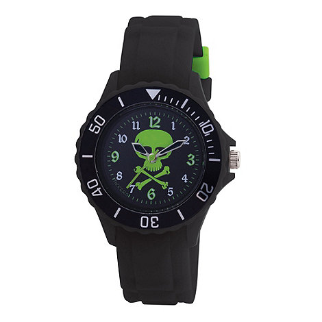 Tikkers - Kids+ black skull sports watch