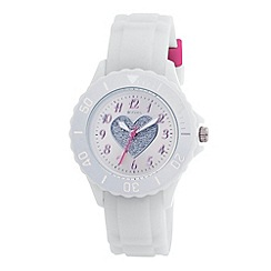 Tikkers - Kids' white heart sports watch tk0034