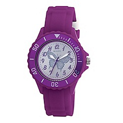 Tikkers - Kids' purple butterfly sports watch