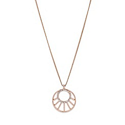 Rotary - Ladies rose gold plated bracelet watch