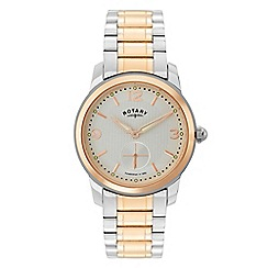 Rotary - Gents two tone rose plated bracelet watch
