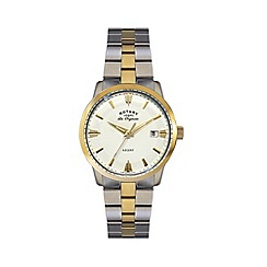 Rotary - Gents two tone gold plated bracelet watch