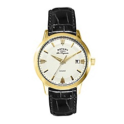 Rotary - Gents gold plated strap watch