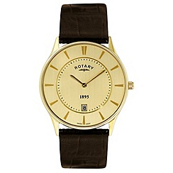 Rotary - Gents gold plated ultra slim watch