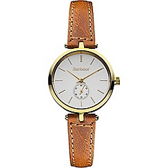 Barbour - Ladies silver dial QA strap watch bb011gdtn