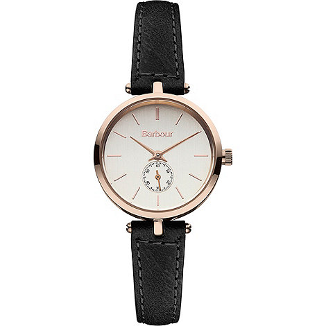 Barbour - Ladies rose gold dial QA strap watch