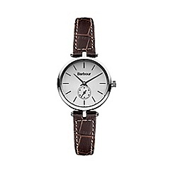 Barbour - Ladies silver dial QA strap watch