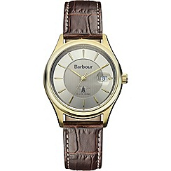 Barbour - Men's gold dial QA strap watch