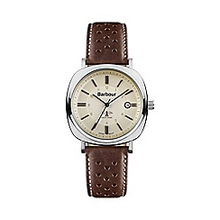 Barbour - Men's cream dial QA strap watch