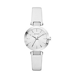 DKNY - Ladies silver 'stanhope' analogue watch