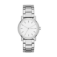 DKNY - Ladies silver 'soho' analogue watch