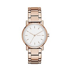 DKNY - Ladies rose gold 'soho' analogue watch