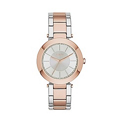 DKNY - Ladies two tone 'stanhope' analogue watch