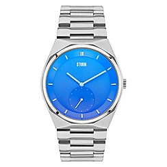 STORM - Mens blue small second hand steel bracelet watch